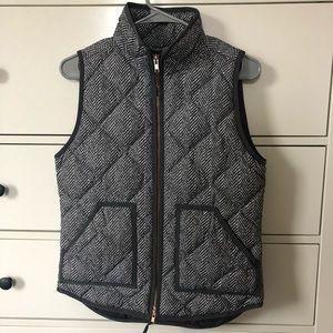 J.Crew Herringbone Puffer Vest
